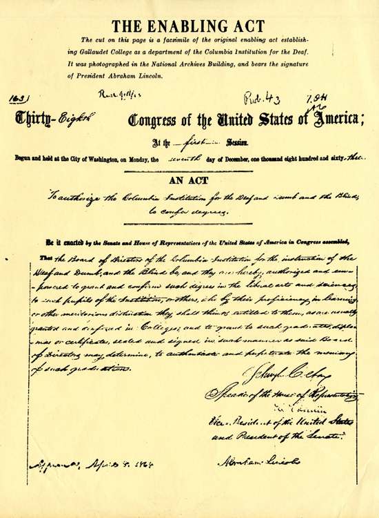 A scanned picture of original enabling act.