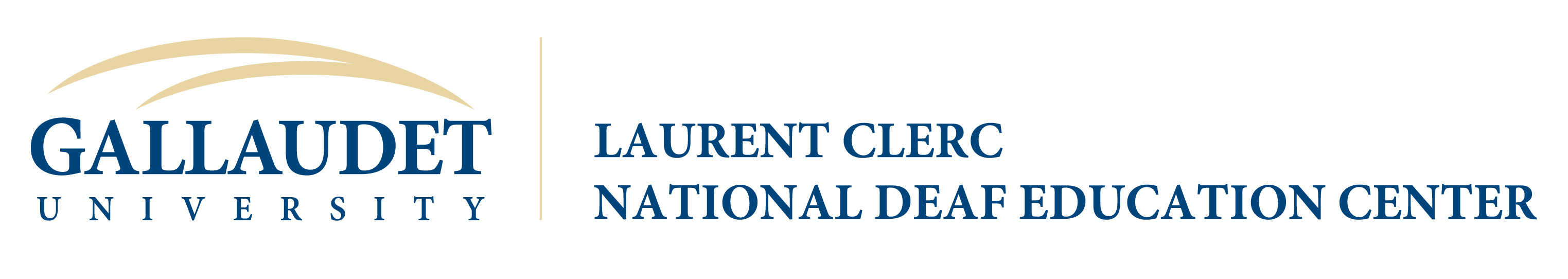 Laurent Clerc National Deaf Education Center Gallaudet University Logo