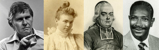 Dr. William C. Stokoe, May Martin, Abbe de l'Epee and Andrew Jackson Foster