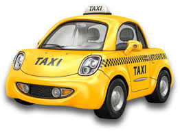 Yellow Volkswagen Bug Taxicab