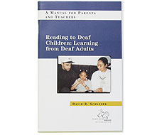 Image: Book cover: Reading to Deaf Children: Learning from Deaf Adults
