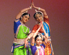 Image: Performers from the Nrityalaya School of Indian Classical Odissi Dance will grace the stage again this year.