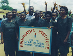 Image: Deaf students in Africa