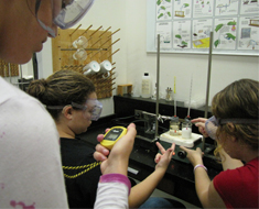 Image: Students time and record temperature changes
