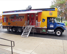 Image: USDA Discovery Zone Food Safety Mobile arrives at KDES.