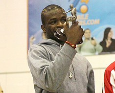 Image: MSSD basketball player Mohamed Kamara was thrilled with his All-Tournament team trophy.