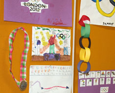 "Image: ""Summer Olympics"" was the theme for KDES's 2012 ESY program. (Photo: Susan Flanigan)"