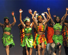 "Image: MSSD dancers open the concert with ""Africa: A Freedom Ship to America."""
