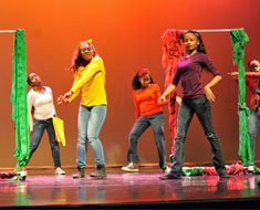 "Image: Time to live it up! The MSSD dancers perform ""Let's Party."""