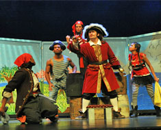 Image: Captain Hook and his pirate crew set sail to go after Peter Pan. (Photo: Jessica Jastrzebski)
