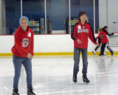 Image: The teams enjoyed a visit to a local indoor ice rink.