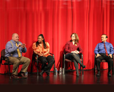 Image: On March 15, a MSSD DPN alumni and staff panel composed of Karl Ewan, Michelle Wynn, Cindy Officer, and Mark Tao shared their personal DPN experiences.