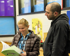 Image: Parents enjoyed reading through the children's fables.