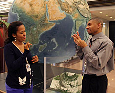 Image: Marta Teklemariam-Carter and Eric Brooks, employees of the Library of Congress, are MSSD alumni who interned at the Library in their senior years.