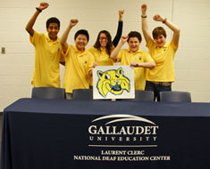 Image: The KDES Buff Team celebrated advancing to the nationals of the Gallaudet University Battle of the Books competition.