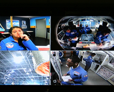 "Image: Emmanuel Njoku (bottom right) said, ""My favorite activity at the Space Camp was the Alpha/Bravo/Charlie mock space shuttle missions. We had to stimulate various possible scenarios the astronauts might experience, including: the launch, orbiting of Earth, reentry of Earth, and the landing. To 'spice' the missions up, our Camp counselor made a number of anomalies appear during the mission, which we had to resolve."""