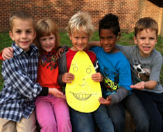Image: Kindergartners participated in a Humpty Dumpty Feelings scavenger hunt as part of Red Ribbon Week.