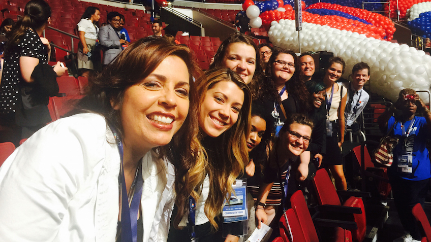 Gallaudet students at the 2016 Democratic National Convention in Philadelphia