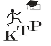 Keeping the Promise Logo: a person walks up above KTP steps , graduation cap hangs on a diploma on the top right corner