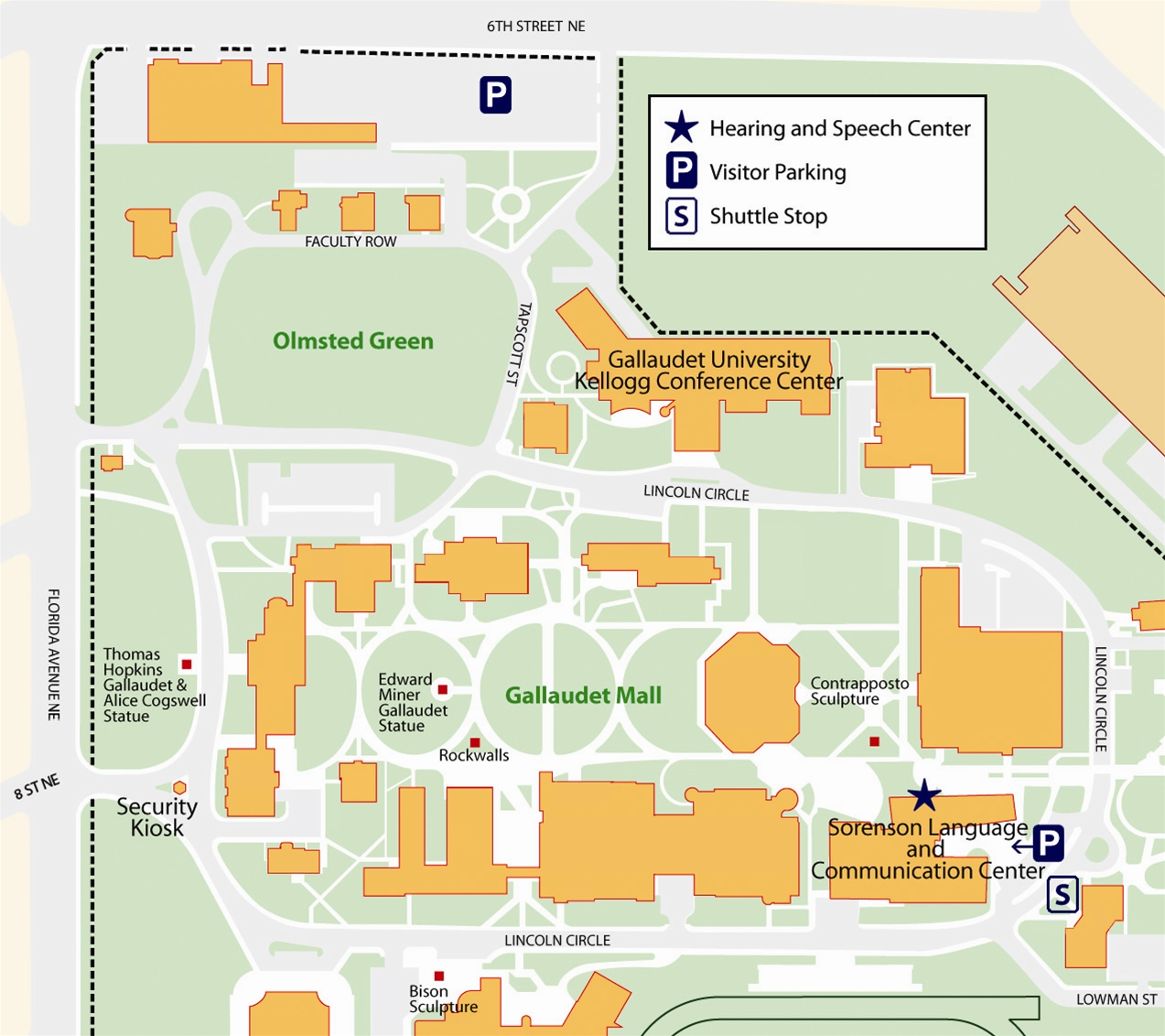 Reserved Parking Lots – Gallaudet University on university of jordan map, union memorial student center map, jordan high-tech center map, salt lake community college jordan campus map, slcc taylorsville redwood campus, taylorsville lake map, oklahoma memorial union university campus map, gallaudet university campus map,