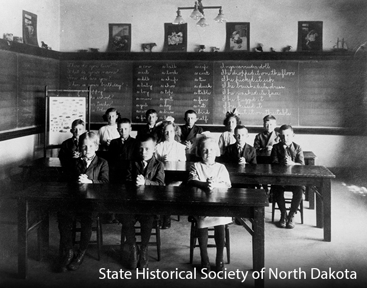 First year class of students at the North Dakota School for the Deaf.
