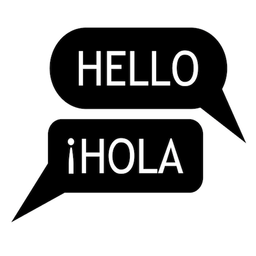 """Hello"" and ""Hola"" text in word bubbles"