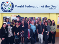 News story from World Federation of the Deaf about Gallaudet University's Deaf Peace Corps Exhibition.
