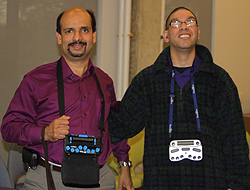Bhattacharyya (left) with Eddie Martinez