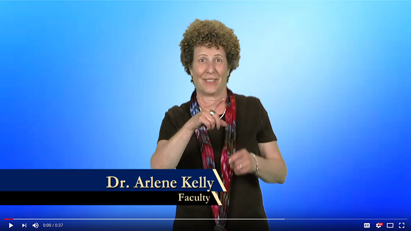Dr. Arlene Kelly explains why she donates to Gallaudet.