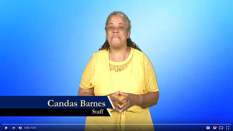 Candas Barnes explains why she donates to Gallaudet