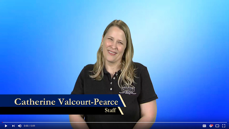 Catherine Valcourt-Pearce explains why she donates to Gallaudet