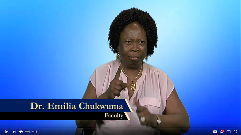 Dr. Emilia Chukwuma explains why she donates to Gallaudet.