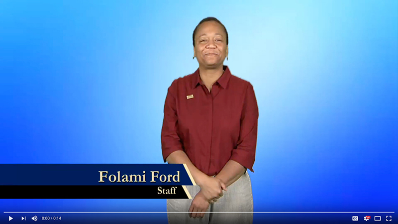 Folami Ford explains why she gives to Gallaudet