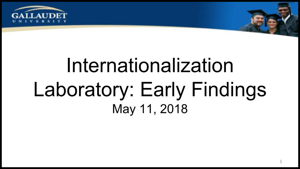 "image of Powerpoint title page: ""Internationalization Laboratory: Early Findings, May 11, 2018"""
