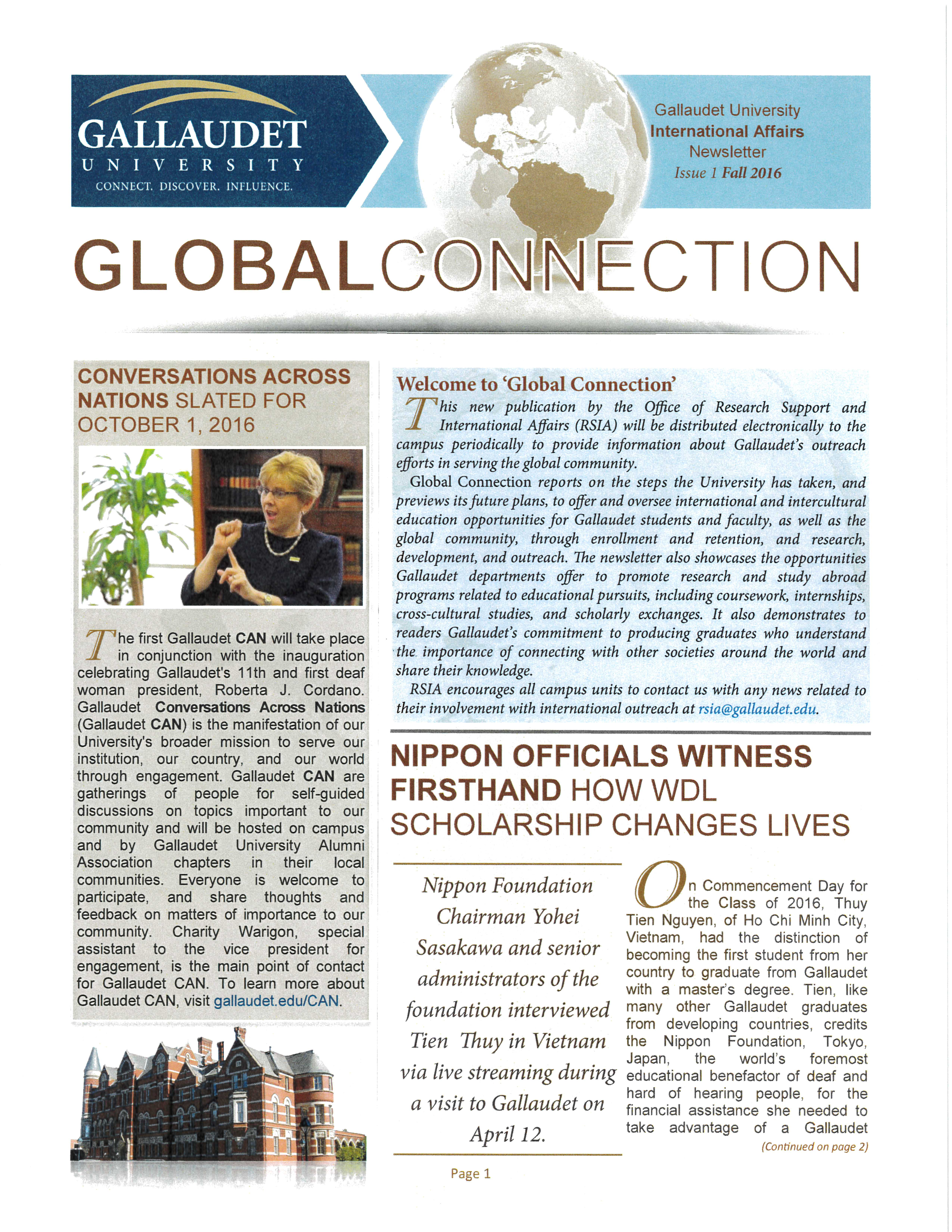 2016 Global Connection Newsletter