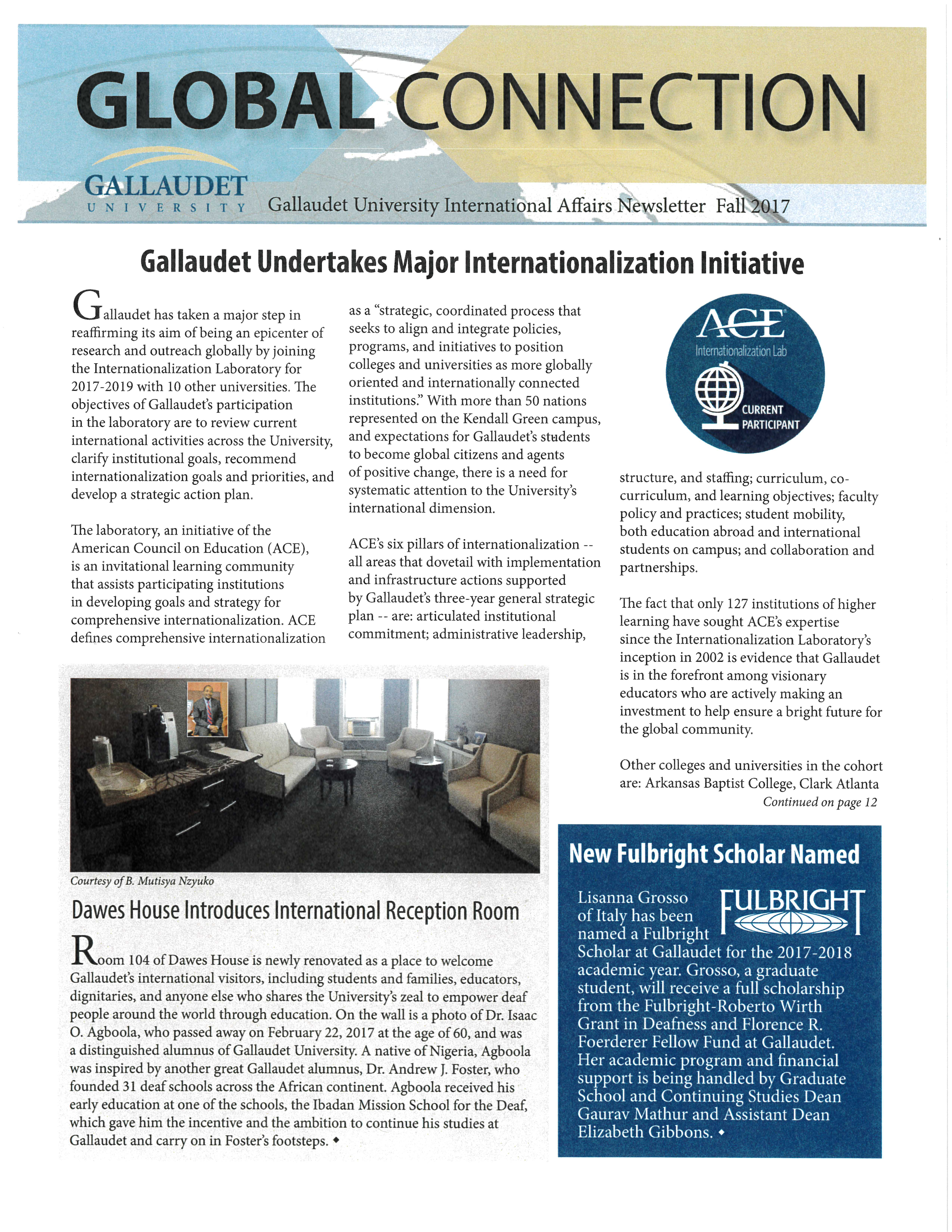 Image of 2017 Fall Global Connection Newsletter