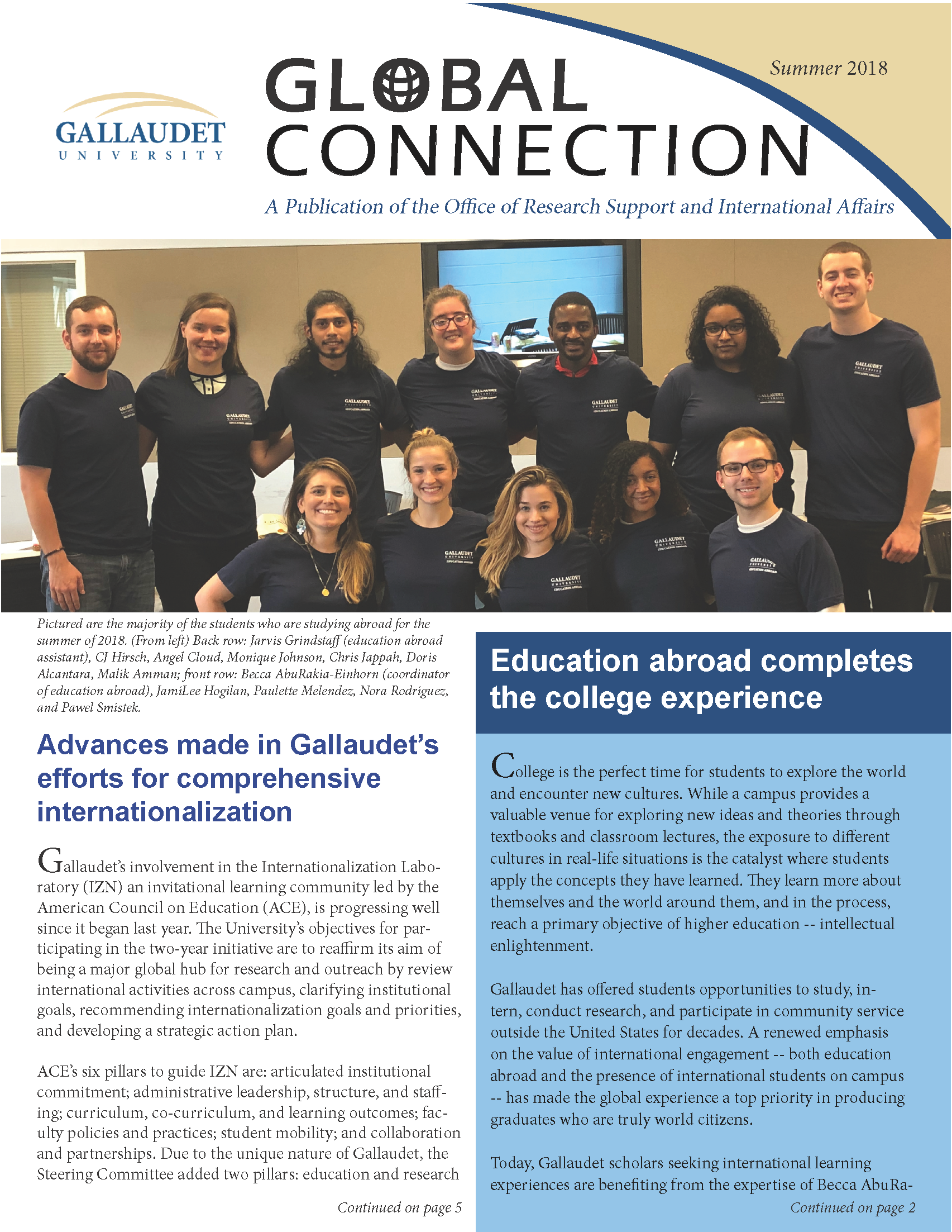 2018 Global Connection Newsletter