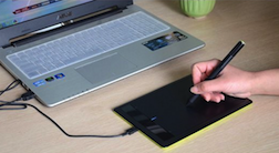 Wacom's leading pen tablet connects to laptop