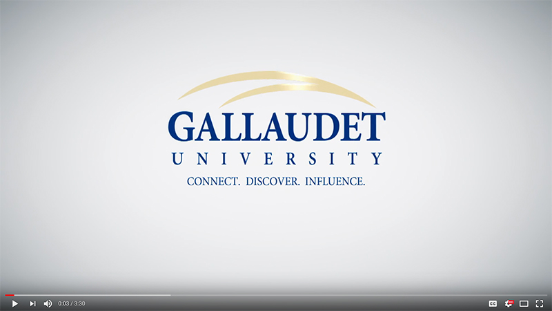 video capture of Gallaudet logo, animated